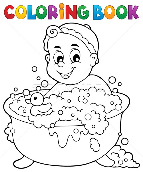 Coloring book baby theme image 3 Stock photo © clairev