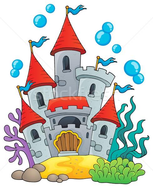 Underwater castle theme 1 Stock photo © clairev