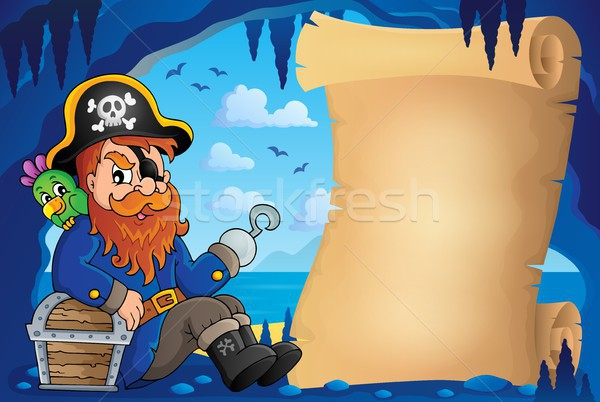 Parchment in pirate cave image 6 Stock photo © clairev