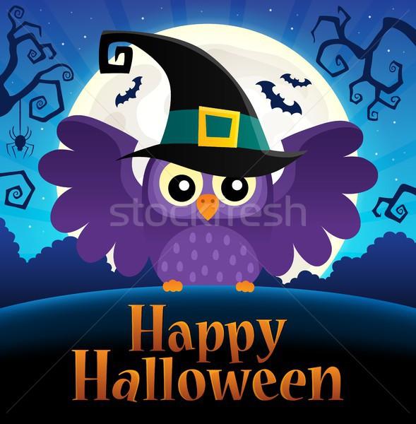 Happy Halloween sign thematic image 1 Stock photo © clairev
