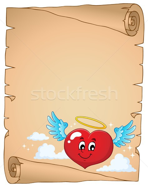 Valentine heart topic parchment 4 Stock photo © clairev
