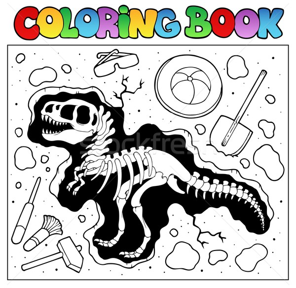 Coloring book with excavation site Stock photo © clairev
