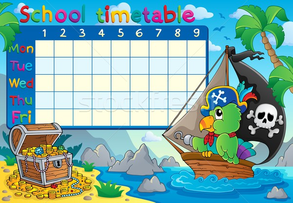 School timetable topic image 8 Stock photo © clairev