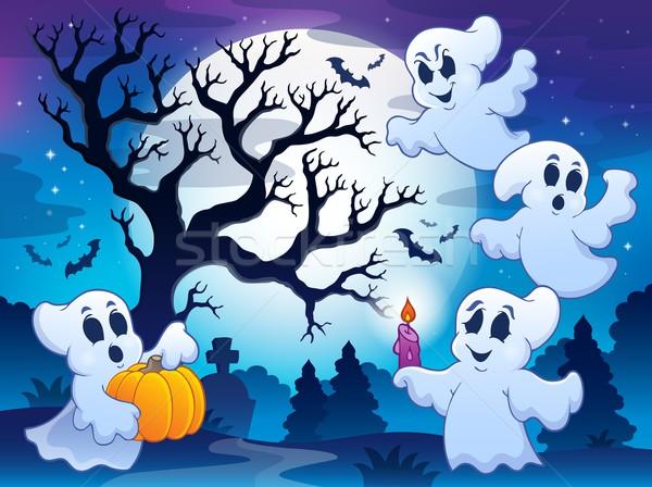 Spooky tree theme image 4 Stock photo © clairev