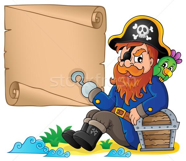 Sitting pirate theme image 6 Stock photo © clairev