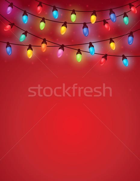 Christmas lights theme image 4 Stock photo © clairev