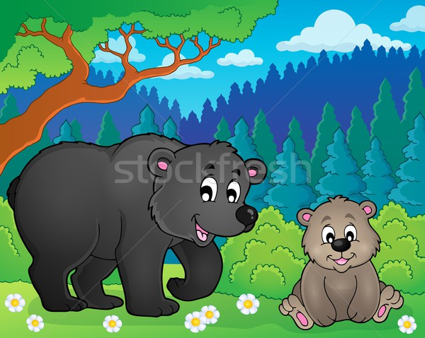 Bears in nature theme image 2 Stock photo © clairev