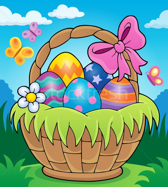 Easter basket theme image 2 Stock photo © clairev