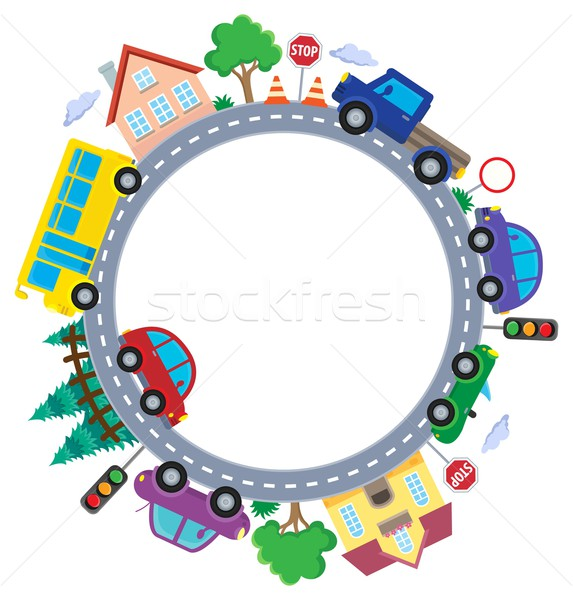 Circle with cars theme image 1 Stock photo © clairev