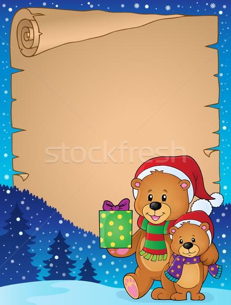 羊皮紙 クリスマス 幸せ 芸術 ボックス ストックフォト © clairev