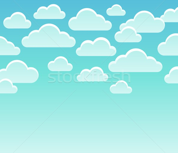 Stylized clouds theme image 7 Stock photo © clairev