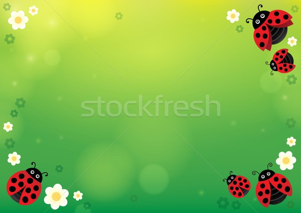 Spring background with ladybugs 1 Stock photo © clairev