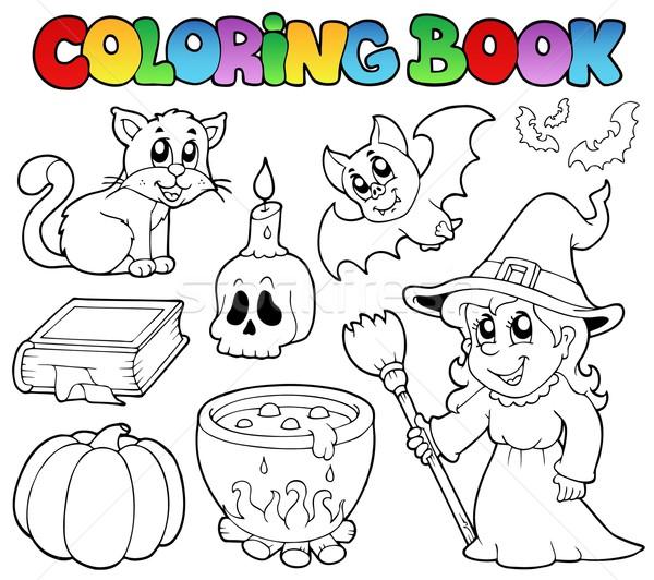 Coloring book Halloween collection Stock photo © clairev