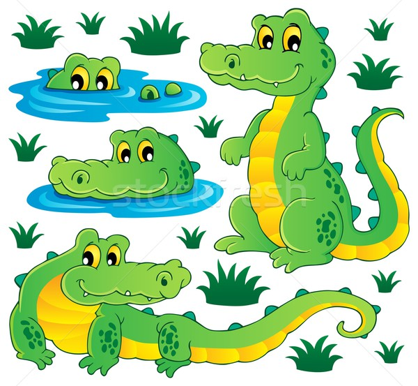 Image with crocodile theme 3 Stock photo © clairev