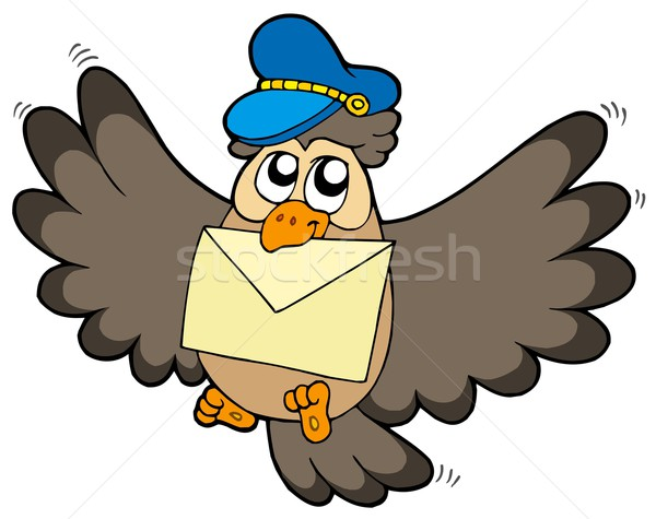 Owl postman with letter Stock photo © clairev