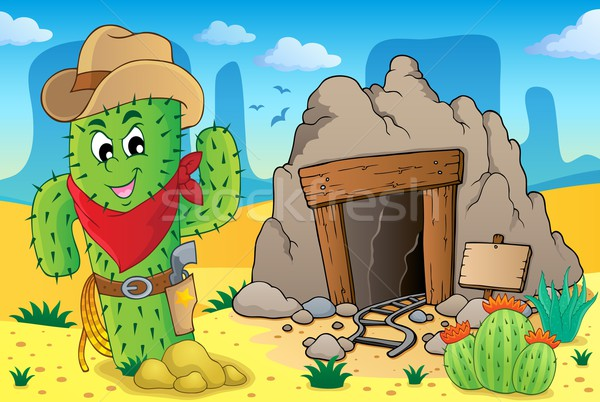 Desert with old mine theme 6 Stock photo © clairev