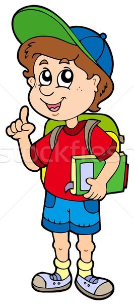 Stock photo: Advising school boy