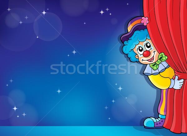 Clown obraz uśmiech sztuki etapie funny Zdjęcia stock © clairev