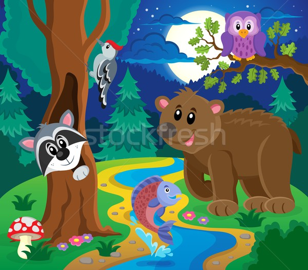 Forest animals topic image 6 Stock photo © clairev