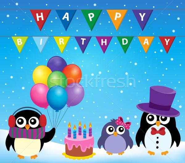 Party penguin theme image 8 Stock photo © clairev