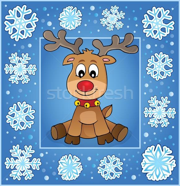 Stock photo: Christmas ornamental greeting card 1