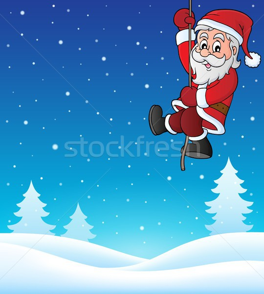 Climbing Santa Claus topic image 1 Stock photo © clairev