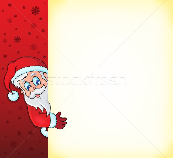 Lurking Santa Claus with copyspace 2 Stock photo © clairev