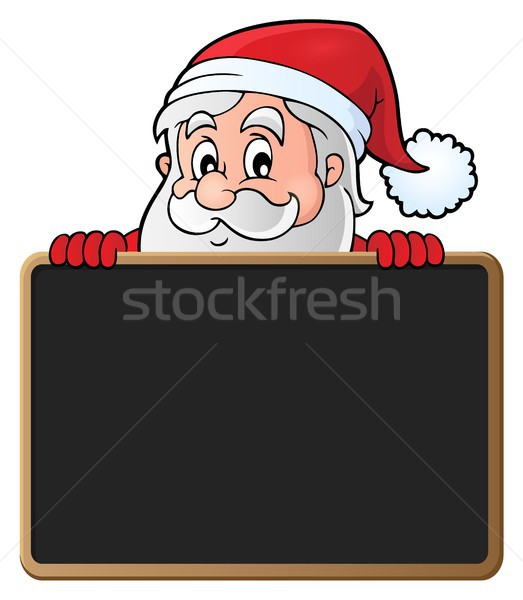 Santa Claus with blackboard theme 2 Stock photo © clairev