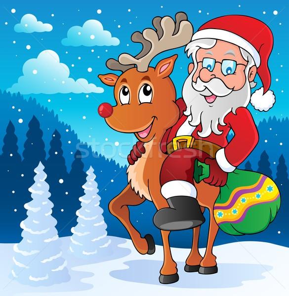 Santa Claus thematic image 2 Stock photo © clairev