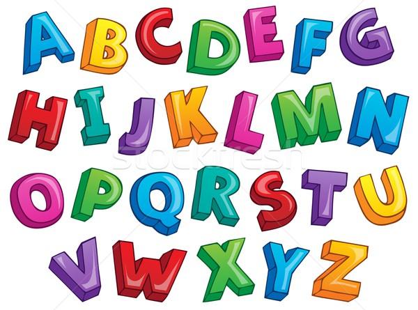 Image with alphabet theme 2 Stock photo © clairev