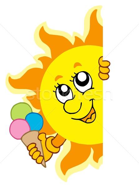 Lurking Sun with icecream Stock photo © clairev