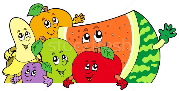 Lurking cartoon fruits Stock photo © clairev