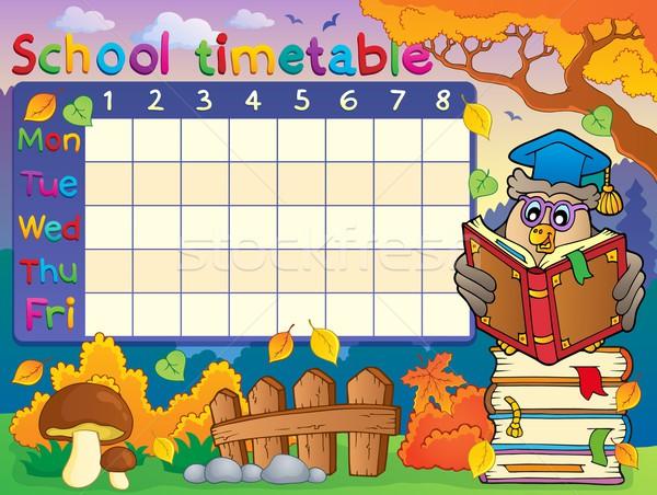 School timetable composition 2 Stock photo © clairev