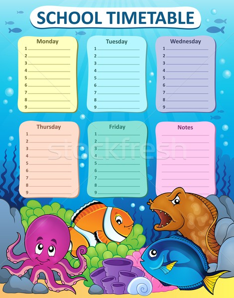 Weekly school timetable thematics 1 Stock photo © clairev