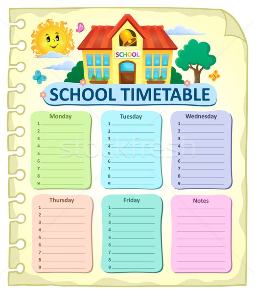 Weekly school timetable thematics 7 Stock photo © clairev