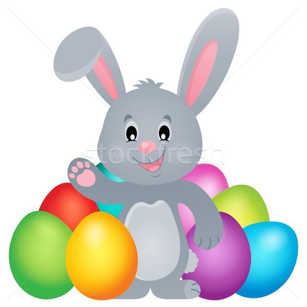 定型化された イースターバニー 画像 幸せ ウサギ バニー ストックフォト © clairev