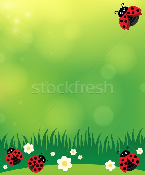 Spring background with ladybugs 2 Stock photo © clairev