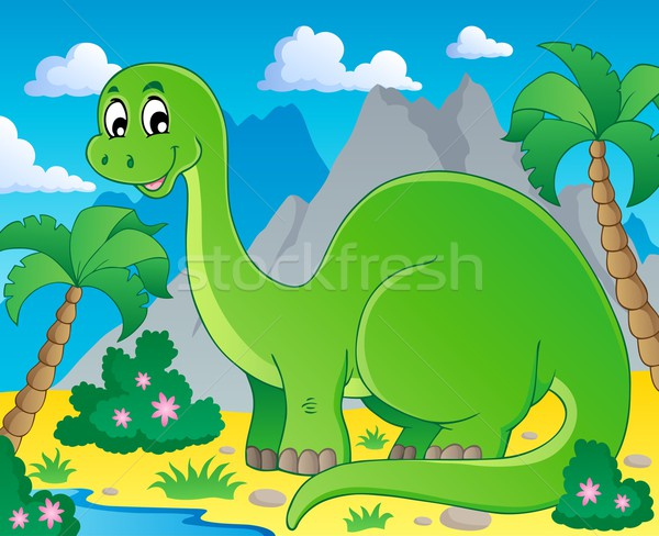 Scene with dinosaur 1 Stock photo © clairev