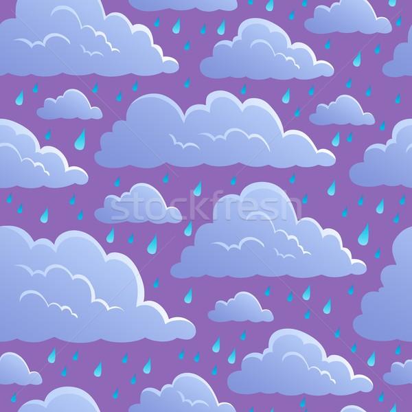 Senza soluzione di continuità nubi design pioggia nube disegno Foto d'archivio © clairev