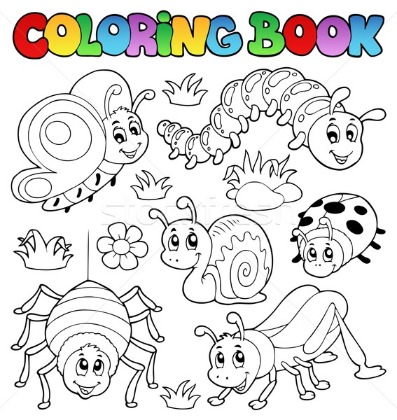 Coloring book cute bugs 1 Stock photo © clairev