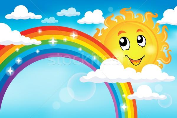 Kép szivárvány égbolt mosoly nap absztrakt Stock fotó © clairev