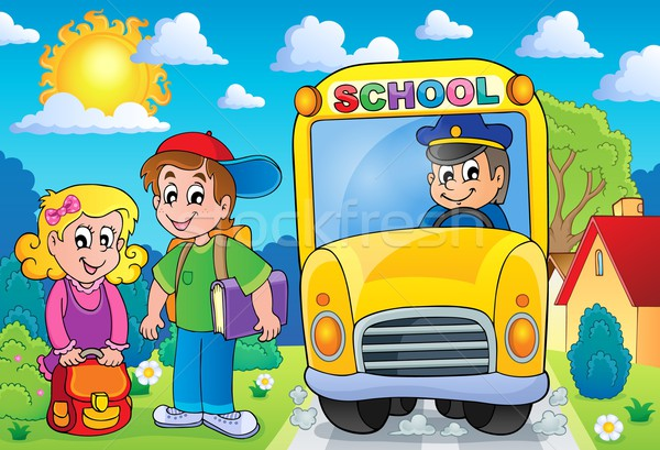 Image with school bus topic 7 Stock photo © clairev