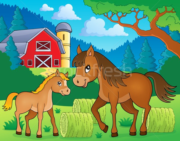 Stock photo: Horse with foal theme image 3