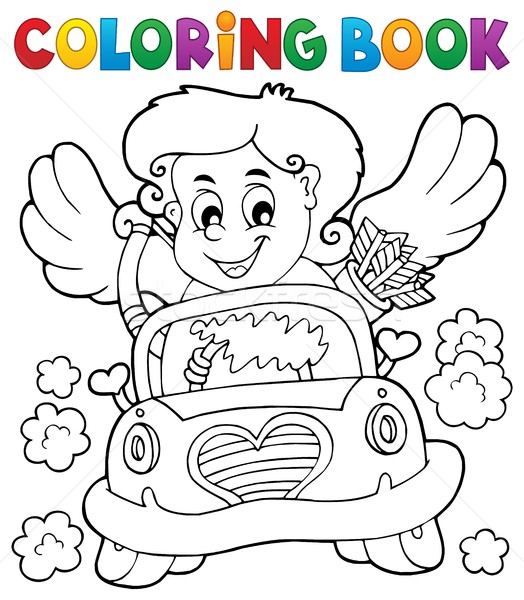 Coloring book with Cupid 4 Stock photo © clairev