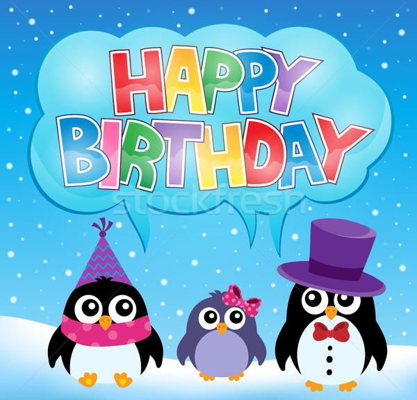 パーティ ペンギン 画像 歳の誕生日 にログイン 鳥 ストックフォト © clairev