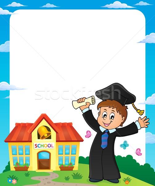 Graduação imagem educação menino sucesso roupa Foto stock © clairev