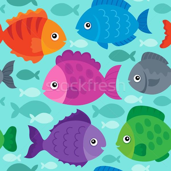 Végtelenített stilizált halfajok tenger háttér állatok Stock fotó © clairev