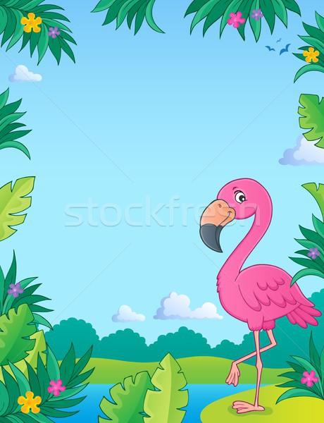 Flamingo tópico imagem água natureza projeto Foto stock © clairev