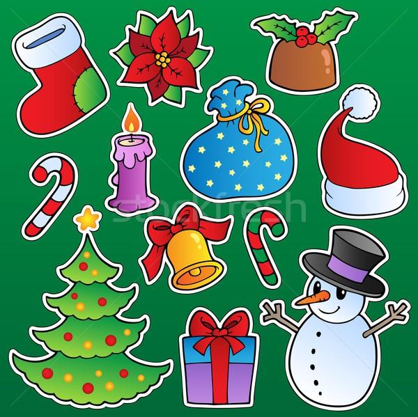 Foto stock: Natal · temporada · saco · dom · apresentar · desenho
