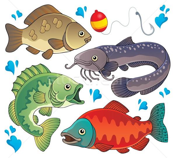 De agua dulce arte animales bajo Foto stock © clairev